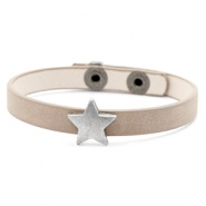 Bracelets tendance stud étoile marron country