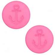 Cabochon plat 20mm Polaris Elements ancre rose peonia