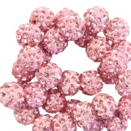 Perles strass 10mm rose