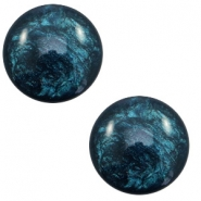 Cabochon classique 12mm Polaris Elements Lively Petrol blue