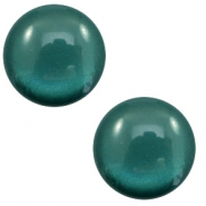 Cabochon classique 12mm Polaris Elements soft tone Shiny Deep teal blue
