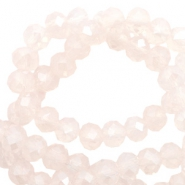 Perles à facettes 6x4 mm disque Light rose pink opal-pearl shine coating