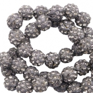 Perles strass 6mm Anthracite