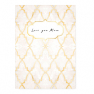 "Cartes à bijoux ""Love you Mom"" Rose"