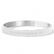 "Bracelets en acier inox ""YOU ARE MY STAR IN THE SKY"" Argenté"