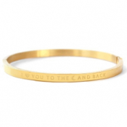 "Bracelets en acier inox ""I LOVE YOU TO THE MOON AND BACK"" Doré"