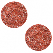 Cabochon plat 12mm Polaris Elements Goldstein Rose corail tigerlily