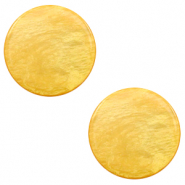 Cabochon plat 20mm Polaris Elements Lively Jaune minérale