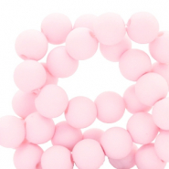 Perles acryliques 4mm mat Rose clair
