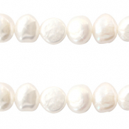 Perles d'eau douce 8-9mm Natural blanc