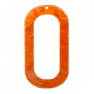 Pendentifs en résine oblong ovale 56x30mm Orange flamme