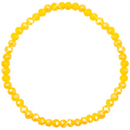 Bracelets perles à facettes 4x3mm Freesia yellow opal-pearl shine coating