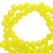 Perles à facettes 8x6mm disque Jaune charlock-pearl shine coating