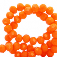 Perles à facettes 8x6mm disque Orange emberglow-pearl shine coating