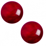 Cabochon classique 12mm Polaris Elements pearl shine Rouge rubis