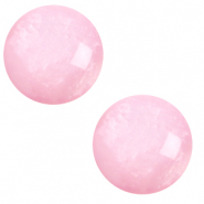 Cabochon classique 12mm Polaris Elements pearl shine Rose quartz