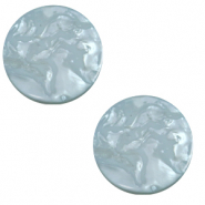 Cabochon plat 12mm Polaris Elements Lively Blue verseau