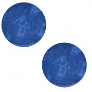 Cabochon plat 12mm Polaris Elements Lively Bleu iolite