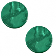 Cabochon plat 12mm Polaris Elements Lively Vert agate