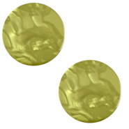 Cabochon plat 12mm Polaris Elements Lively Vert origan