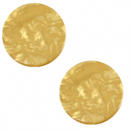 Cabochon plat 12mm Polaris Elements Lively Jaune curry