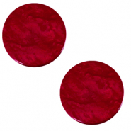 Cabochon plat 20mm Polaris Elements Lively Rouge rubis