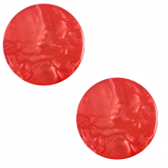 Cabochon plat 12mm Polaris Elements Lively Rouge hibiscus
