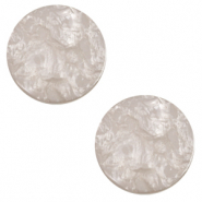 Cabochon plat 20mm Polaris Elements Lively Gris acier