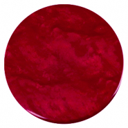 Cabochon plat 35mm Polaris Elements Lively Rouge rubis