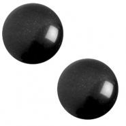 Cabochon classique 12mm Polaris Elements soft tone Noir nero