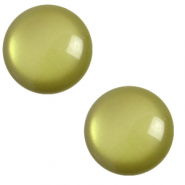 Cabochon classique 7mm Polaris Elements soft tone Vert origan