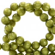 Perles Super Polaris rond 6 mm Vert origan