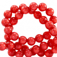 Perles Super Polaris rond 6 mm Rouge hibiscus