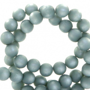 Perles Super Polaris rond 6 mm mat Bleu verseau