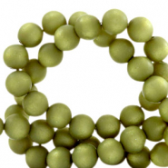 Perles Super Polaris rond 8 mm mat Vert origan