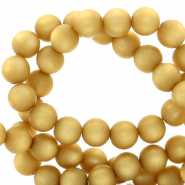 Perles Super Polaris rond 8 mm mat Jaune curry