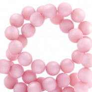 Perles Super Polaris rond 10 mm mat Rose quartz