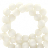 Perles Super Polaris rond 8 mm mat Blanc bianco
