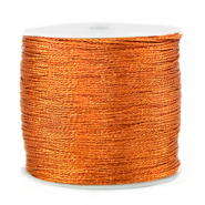 Fil macramé métallique 0.5mm Orange rouille