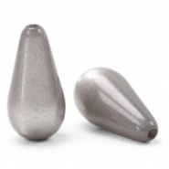 Perles Super Polaris Elements en forme de goutte shiny Gris acier