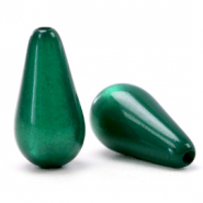 Perles Super Polaris Elements en forme de goutte shiny Vert agate