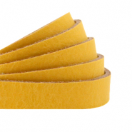 Cuir DQ plat 10 mm Jaune ocre