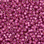 Perles de rocailles Miyuki 11/0 Silverlined dyed duracoat peony pink 11-4247