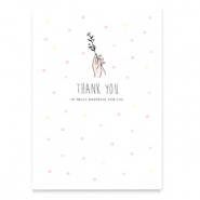 "Cartes à bijoux ""Thank you"" Blanc"