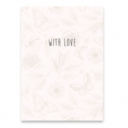 "Cartes à bijoux ""With love"" Beige"