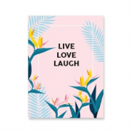 "Cartes à bijoux ""live love laugh"" Rose-bleu"