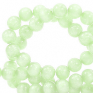 Perles Polaris rond 6mm Mosso shiny Vert cendre