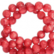 Perles Polaris rond 8mm Mosso shiny Rouge flamme écarlate