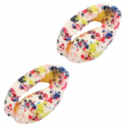 Perles coquillage specials Cauri Multicolore fleur