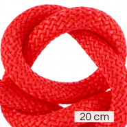 Cordelette style marin 10mm (4x20cm) Rouge vif
